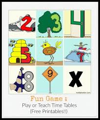 times tables the fun way online practice and teach multiplication facts game with free printables