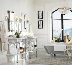 Pottery Barn Dining Room Lighting by Mia Faceted Crystal Chandelier Pottery Barn