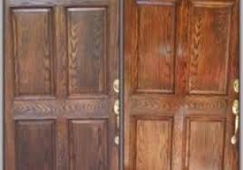 Refinish Exterior Door How To Refinish A Stained Front Door Charming Light Amazing