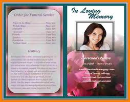 Templates For Funeral Program 7 Free Obituary Program Template Download Hostess Resume