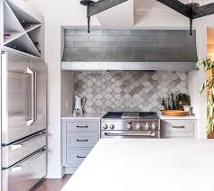 moroccan tile kitchen backsplash cooking nook with gray moroccan tile backsplash transitional