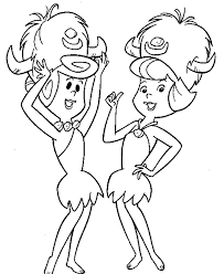 flintstones coloring pages cartoon coloring pages of