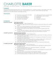 retail sales representative sample resume sales representative job description for resume u2013 foodcity me