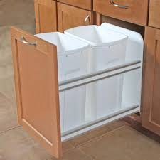 knape u0026 vogt pull out trash cans kitchen cabinet organizers