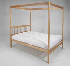 Wood Canopy Bed Wood Bed Frames Sustainable Eco Friendly