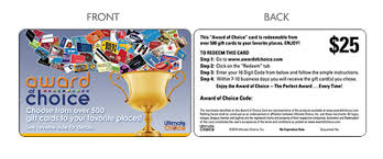 gift card distributors purchase award of choice gift cards and instant gifts