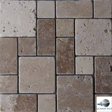 normandy travertine mosaic tile kitchen backsplash bathroom shower