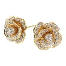 stylish gold earrings fashionable gold jewelry manufacturer from new delhi