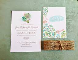 succulent wedding invitations lucky to be in love lucky custom