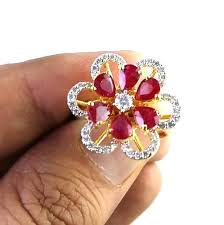 rings ruby images Fine ruby diamond gold ring at rs 25400 piece ruby rings id jpg