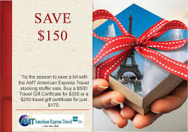 travel gift card give the gift of travel this season amt an american