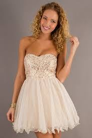 fashion trends beaded prom dress combined with strapless