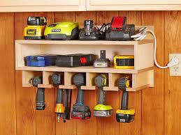 how to build a charging station cordless tool station woodworking plan this handy wall hung holster