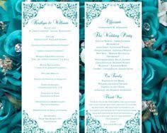 wedding program template instant by diyweddingtemplates