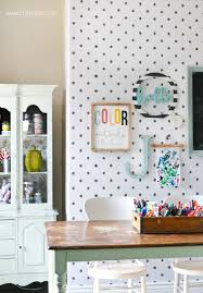 Craft Room Makeovers - wallpaper craft room makeover lolly jane
