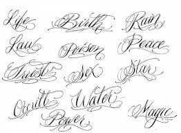 100 cursive tattoo fonts for men tattoo designs lettering