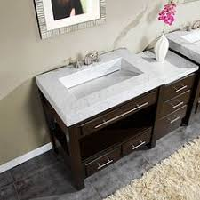 56 Bathroom Vanity Double Sink by Crafted With Natural Travertine Stone And Solid Wood This Double