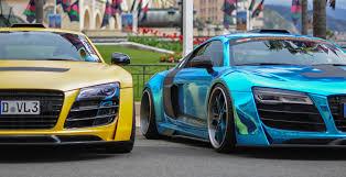 audi r8 wallpaper blue audi r8 monaco supercars exclusive unique blue chrome yellow matte