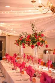 Tall Wedding Reception Centerpieces by Photos Of Orange And Pink Tall Wedding Centerpieces Tall Bright