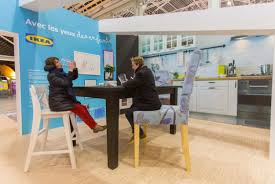 ikea installs oversized apartment inside a train station video