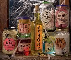 printable halloween specimen jar labels creepy halloween jars crocodile brains fish eyes bat bones