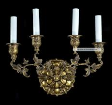Vintage Wall Sconce Lighting Gold Candle Wall Sconces Interior Home Design Home Decorating
