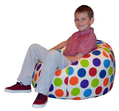 childrens beanbag spotty bean bag chair amazon co uk kitchen