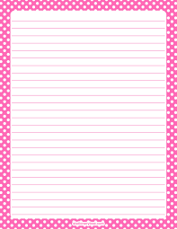 polka dot stationery printable hot pink and white polka dot stationery and writing