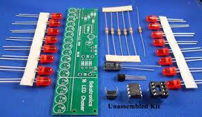 electronic components led lights bk116 chaser kit 16 leds