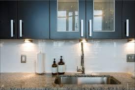 kitchen gray glass tile and kitchen backsplash