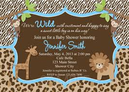 baby shower invitations baby boy invitation printable jungle