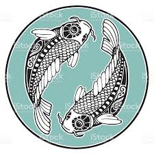 Astrology Sign Two Koi As A Zodiac Sign Of Pisces Stock Vector Art 102719814 Istock