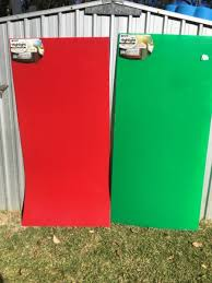 green or blue acrylic panels red green or blue unused still with plastic cover