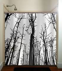 Circo Tree House Shower Curtain Green Forest Woodland Tree Shower Curtain Unique Shower Curtains