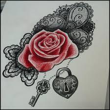 image result for rose lace tattoo inspiration pinterest rose