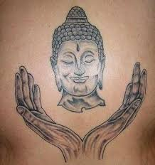 buddha face hands tattoo design tattoos book 65 000 tattoos