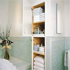 Built In Shelves In Bathroom To Fit The Most Storage Into A Small Bathroom