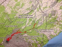 Hawaii Big Island Map Video Pahoa U0027s Hopes Dashed By Latest Lava Projection