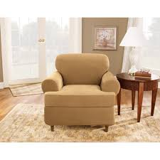 cushions sure fit stretch pinstripe 2 piece t cushion sofa