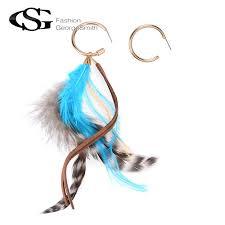 feather earrings s online get cheap leather feather earrings aliexpress