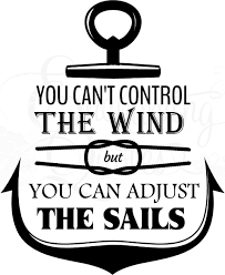 inspirational wall quotes vinyl wall quotes motivational sayings adjust the sails wall quotes decal