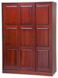 Sliding Door Wardrobe Cabinet 100 Solid Wood 3 Sliding Door Wardrobe Armoire Closet