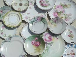 roses china antique vintage pink roses china plates lot floral porcelain