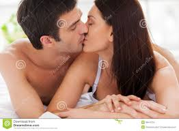 Kiss In Bed Loving Couple Kissing In Bed Royalty Free Stock Photo Image
