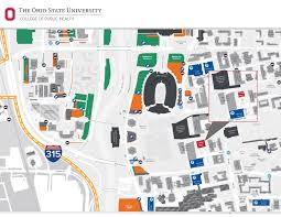 Map Ohio State by Cunz Hall College Of Public Health The Ohio State University
