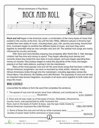 listen to the music 4th grade comprehension worksheets