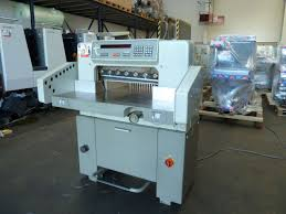 guillotines used finishing machines polar 55 em paper guillotine