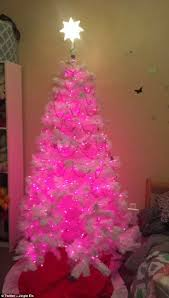crazy christmas tree lights twitter users put up their christmas trees in november daily mail