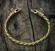 dreki viking dragon brass bracelet vikingsbrand
