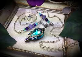 silver purple necklace images Aqua purple silver victorian necklace titanic temptations jewelry jpg